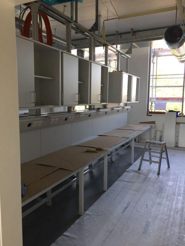 Innenansicht während des Laborbaus